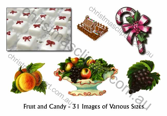 christmas fruit clipart,christmas candy clipart